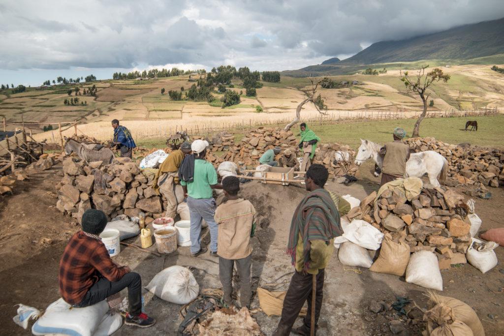 School construction progress, Simien National Parc - Ethiopia