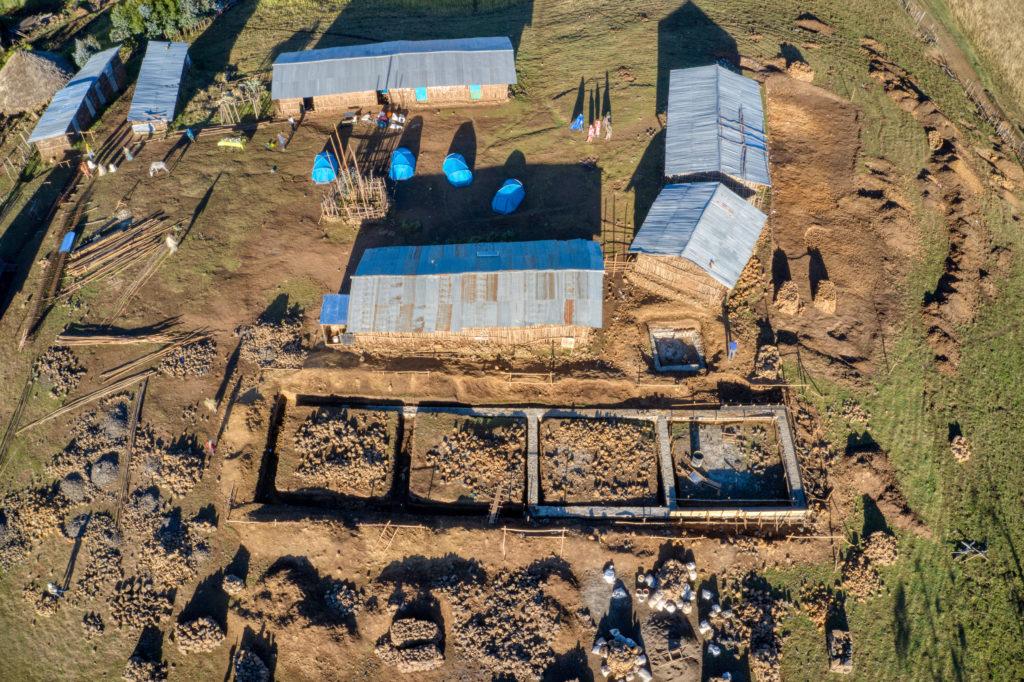 Progrès construction école, Montagnes du Simien Ethiopie