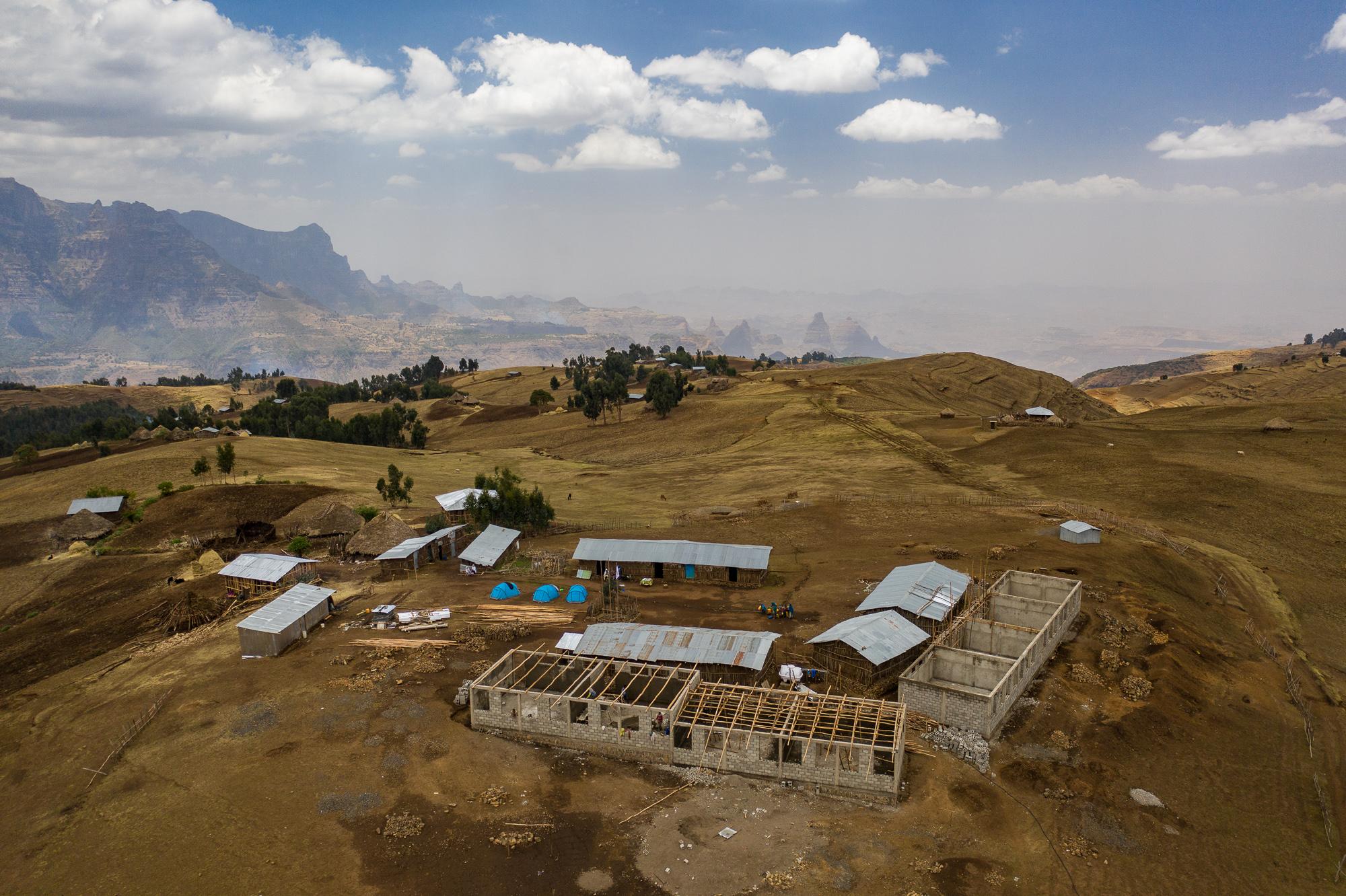 Simien Ethiopie drone