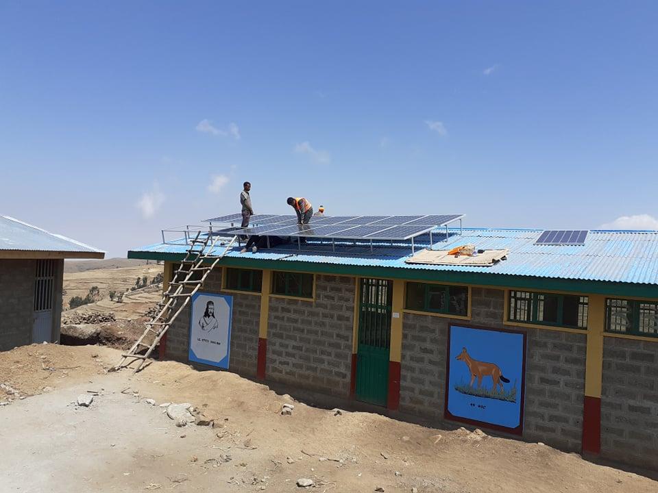 Sonnenkollektoren Äthiopien Simien
