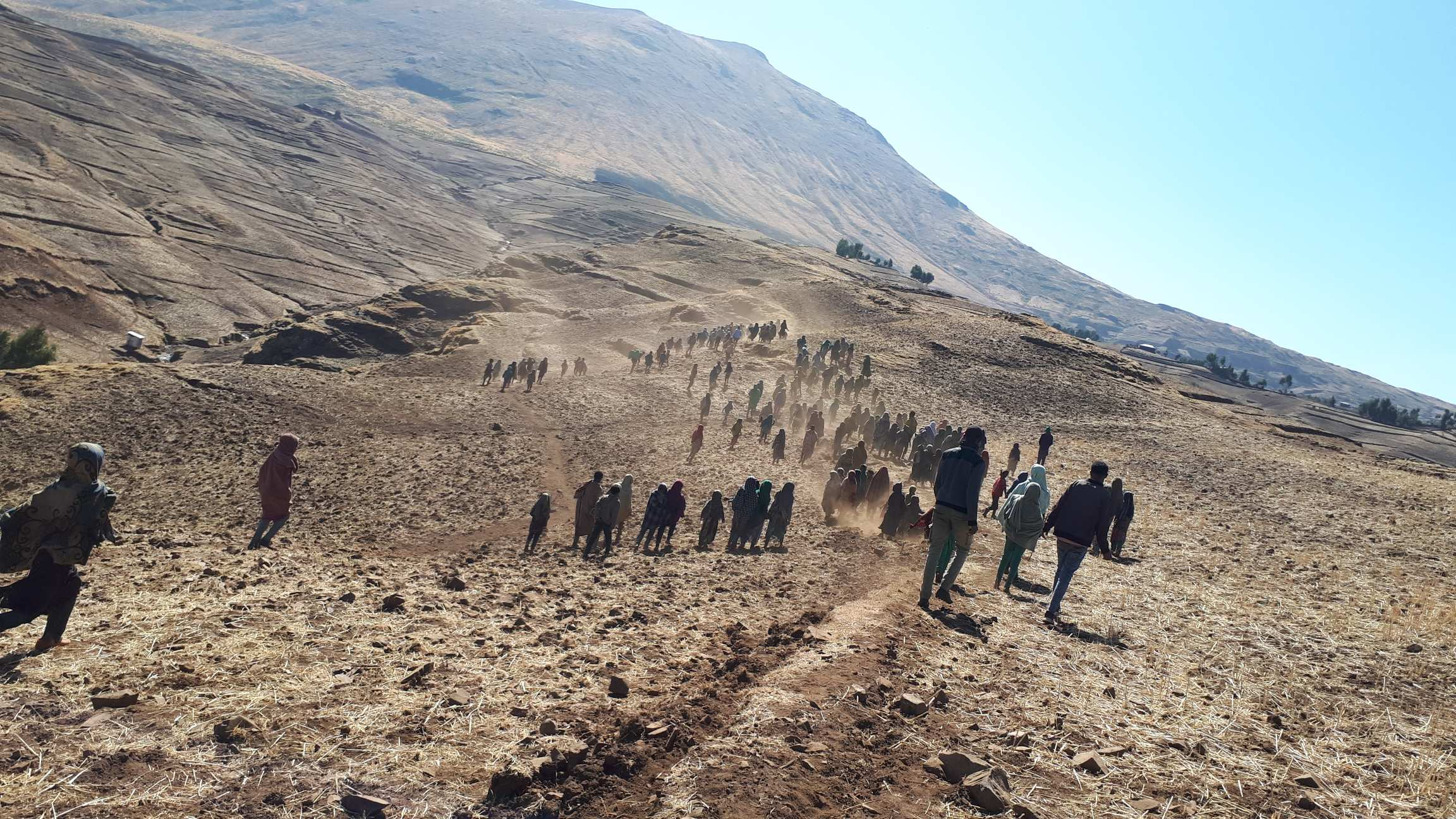 Simien mountains  water collection